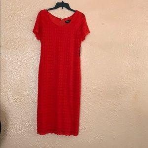 RN studio red dress